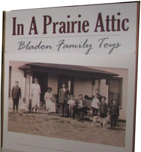 In a Prairie Attic exhibit sign