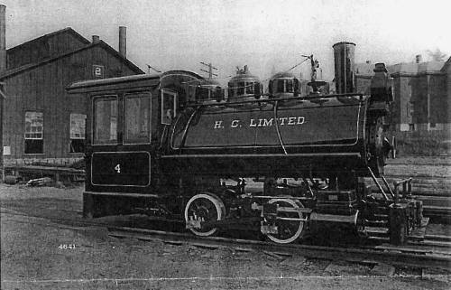 Black and white photo showing Vulcan's sister locomotive engine