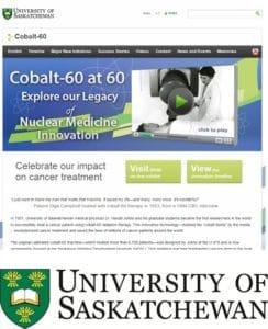 University of Sasaktchewan Cobalt 60 at 60 website