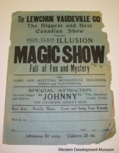 Poster advertising the Lewchuk Vaudeville Co Magic Show