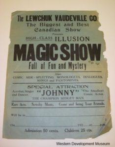 Poster advertising the Lewchuk Vaudeville Co Magic Show
