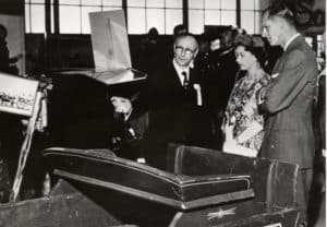 George Shepherd with Her Majesty Queen Elizabeth and the Duke of Edinburgh in 1959